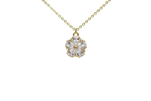 SPARKLY FLOWER NECKLACE