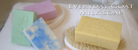 beautiful coloured & scented goat milk soaps made by Planet Yum Soaps Australia