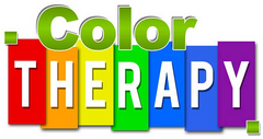 colourful sign reads colour therapy