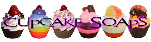Assorted Cupcake Soaps made by Planet Yum very decorative and look like real cupcakes.