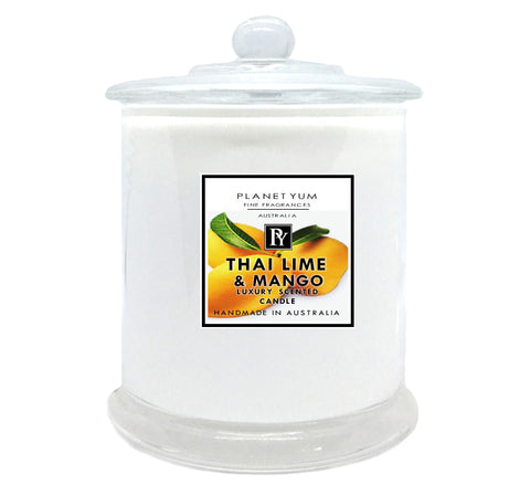 luxury scented candle Thai Lime & Mango by Planet Yum Bath & Body Shop Online