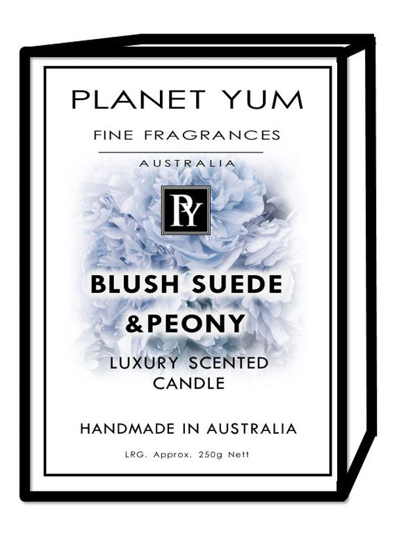 Blush Suede & Peonies Luxury Scented Candle