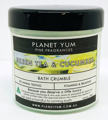 Green Tea & Cucumber Bath Crumble