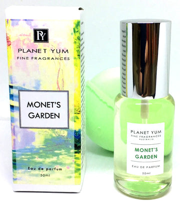 Monet's Garden perfume by Planet Yum with free bath bomb