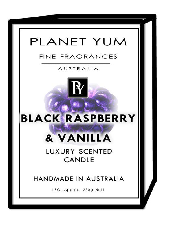 Black Raspberry & Vanilla Luxury Scented Candle