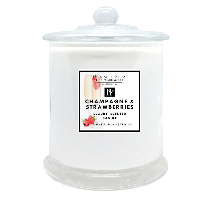 Champagne & Strawberries Luxury Scented Candle