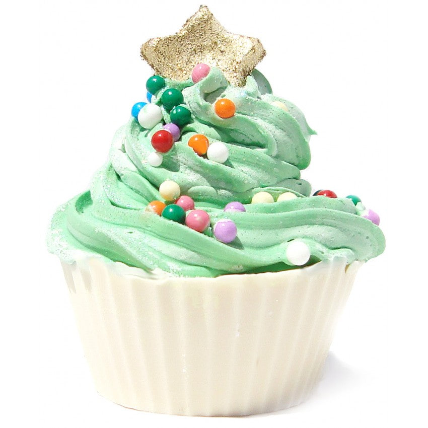 Christmas Tree Cupcake Soap