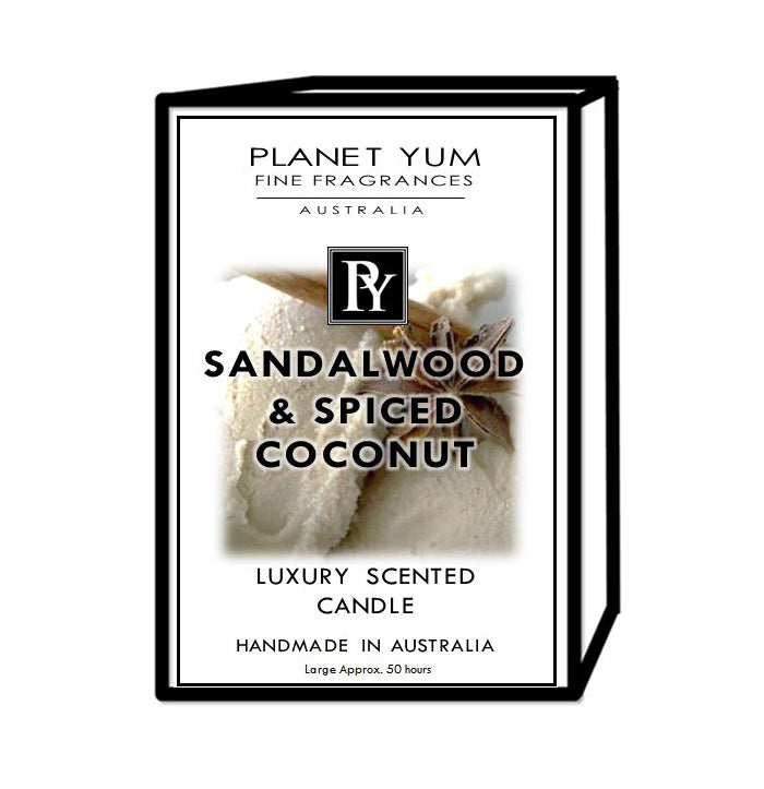 Sandalwood & Spiced Coconut Luxury Scented Candle