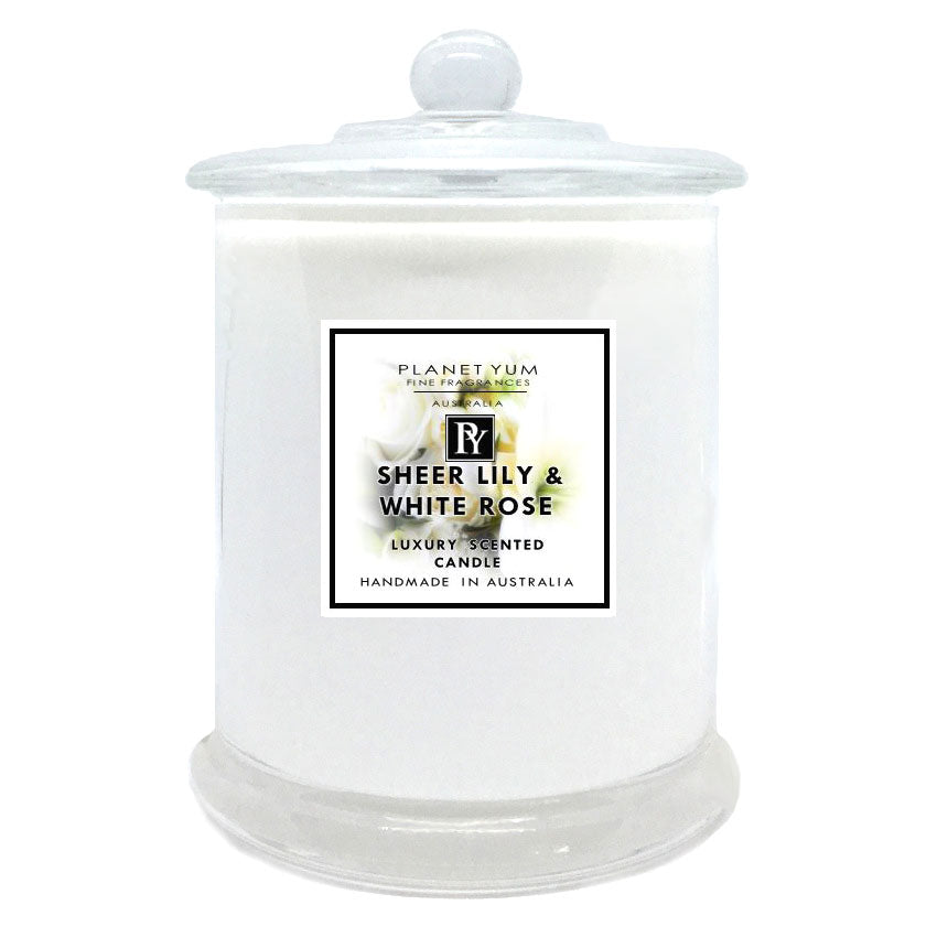 Sheer Lily & White Roses Luxury Scented Candle