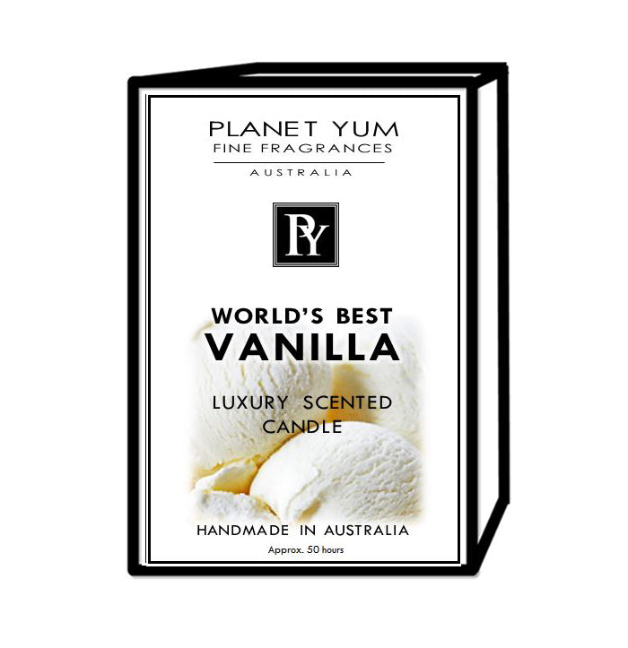 World's Best Vanilla Luxury Scented Candle