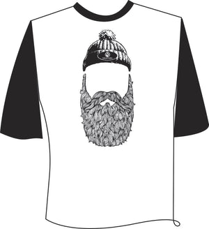 Bearded Man 3/4 Sleeve T-Shirt