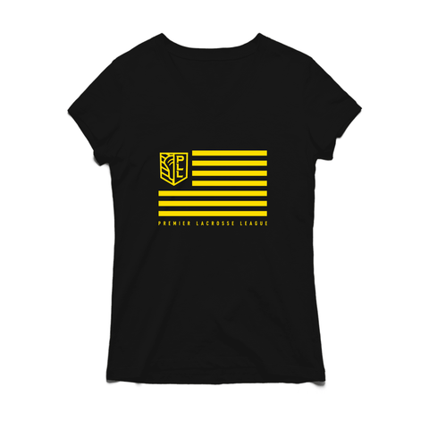 PLL Shield and Stripes V-neck Tee - Women's