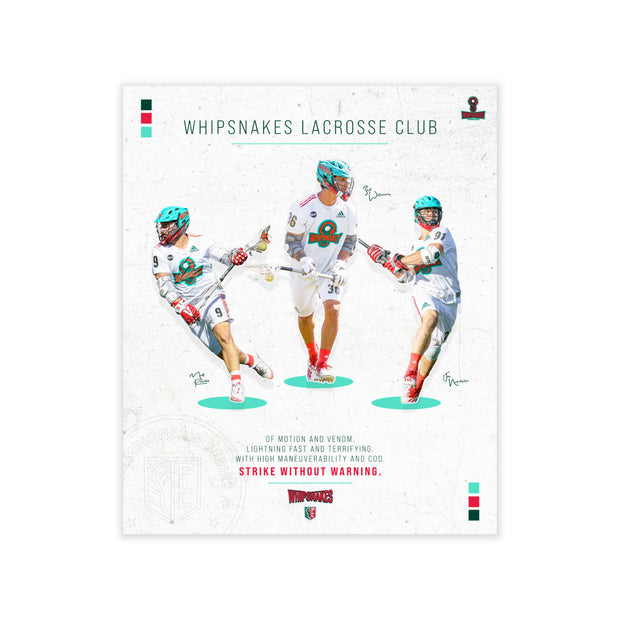 "PLL Whipsnakes Lacrosse Club Poster - 20"" x 24"""