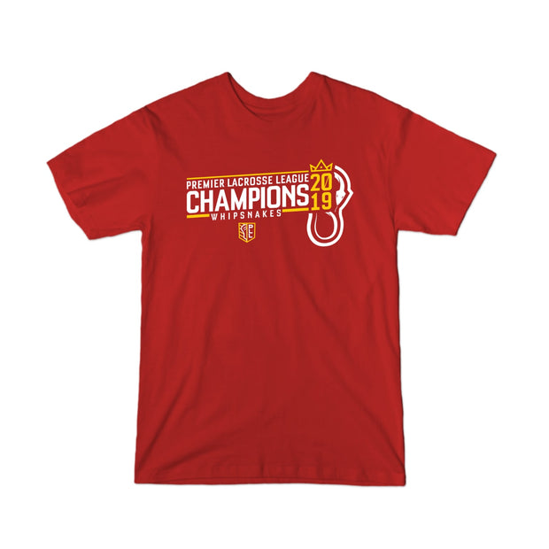 PLL 2019 Champions Whipsnakes Locker Room Youth Tee