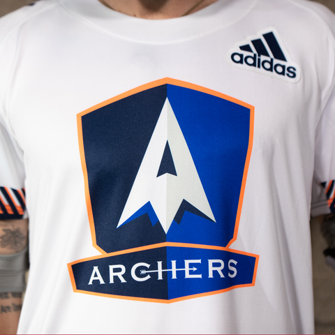 PLL Archers Schreiber White Replica Jersey - Youth