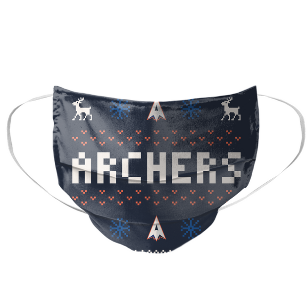 PLL Archers Holiday 2020 Mask