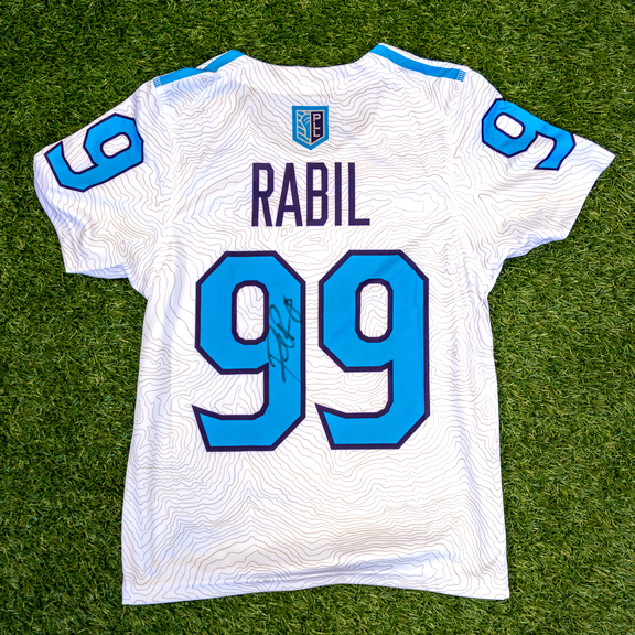 Autographed Paul Rabil Solar Blue Replica Jersey - Youth