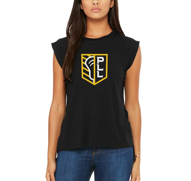 PLL Shield Rolled Cap Sleeve Tee - Women's
