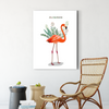 Happy flamingo animal decorative painting 002
