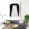 Black and white modern decoration painting 001