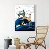 Cute deer animal decorative painting 001
