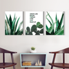 Green small green leaves plant Multi Panel Wall Art 001