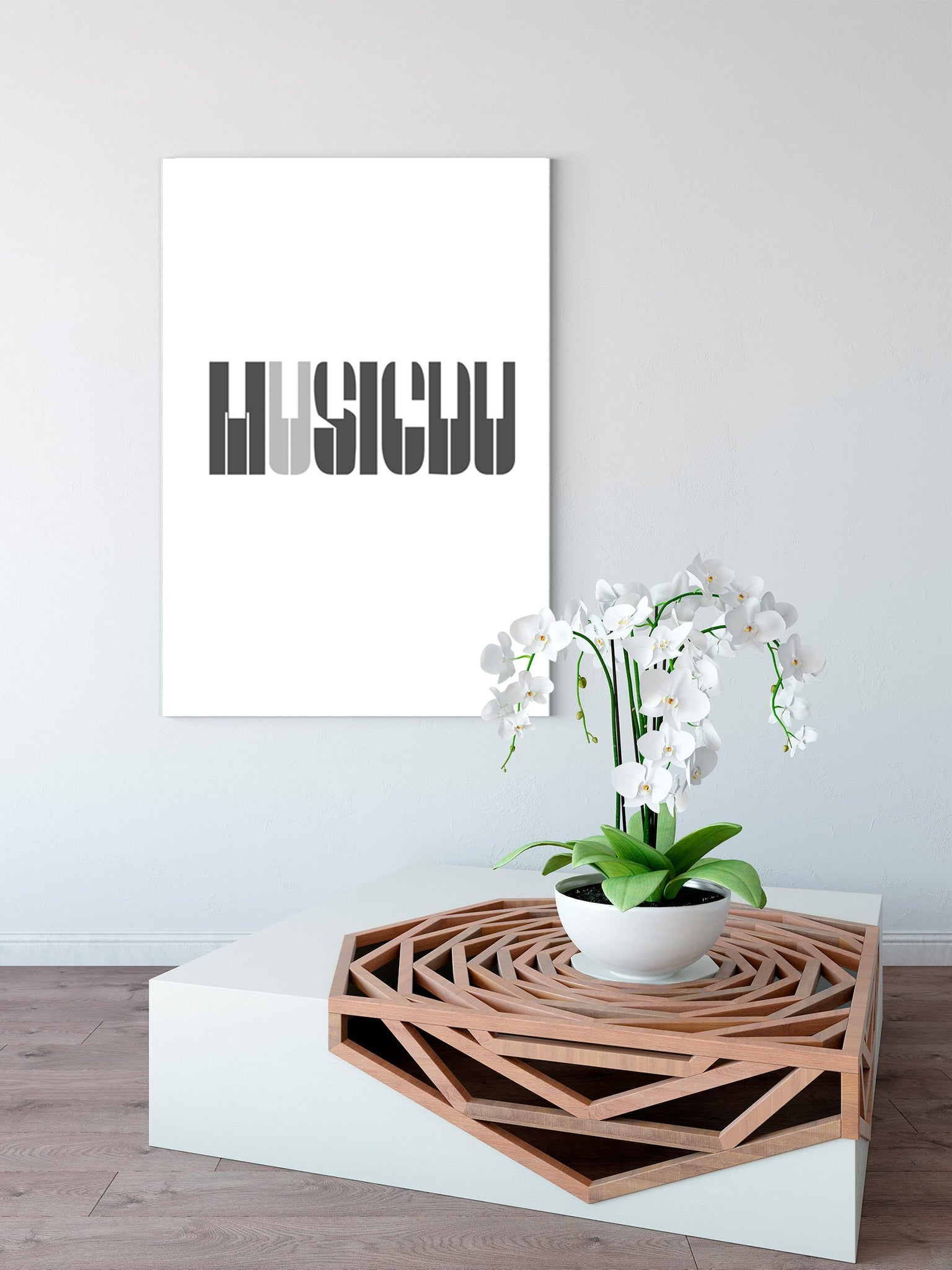 Modern black and white - abstract decorative painting - living room - English 001