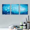 Blue goldfish modern Multi Panel Wall Art 001