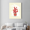 Red succulent flower plant decorative painting 001