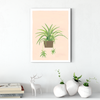 Green hanging orchid plant decoration painting 002