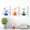 Beautiful flat flower plant Multi Panel Wall Art  001