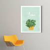 Cute small potted plant decoration painting 003