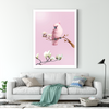 Pink bird and bird decorative painting 001