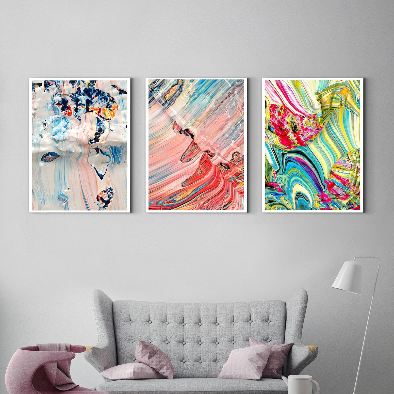Gorgeous abstract painting - art deco painting - living room -Multi Panel Wall Art005B