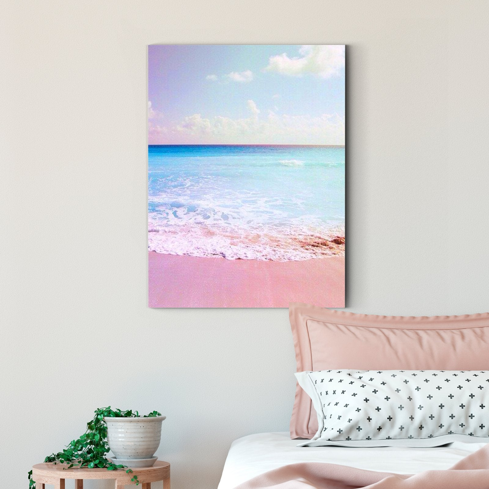 Pink scenery - landscape decoration painting - living room -Multi Panel Wall Art007