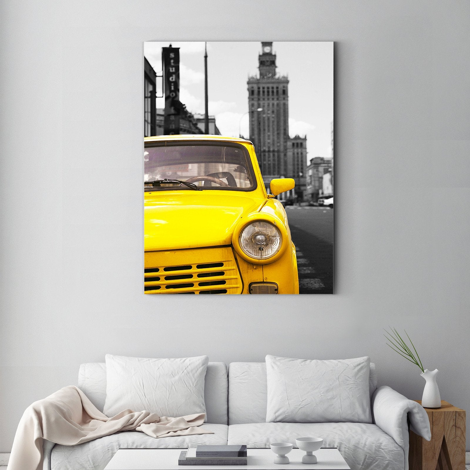 Retro style car - art deco painting - living room -Multi Panel Wall Art011