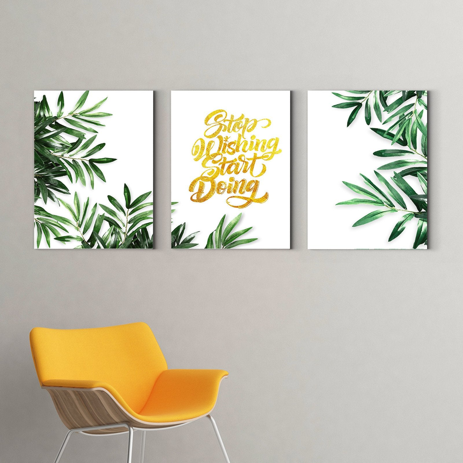 Green leaves under the sun - plant decorative painting - living room-Multi Panel Wall Art023