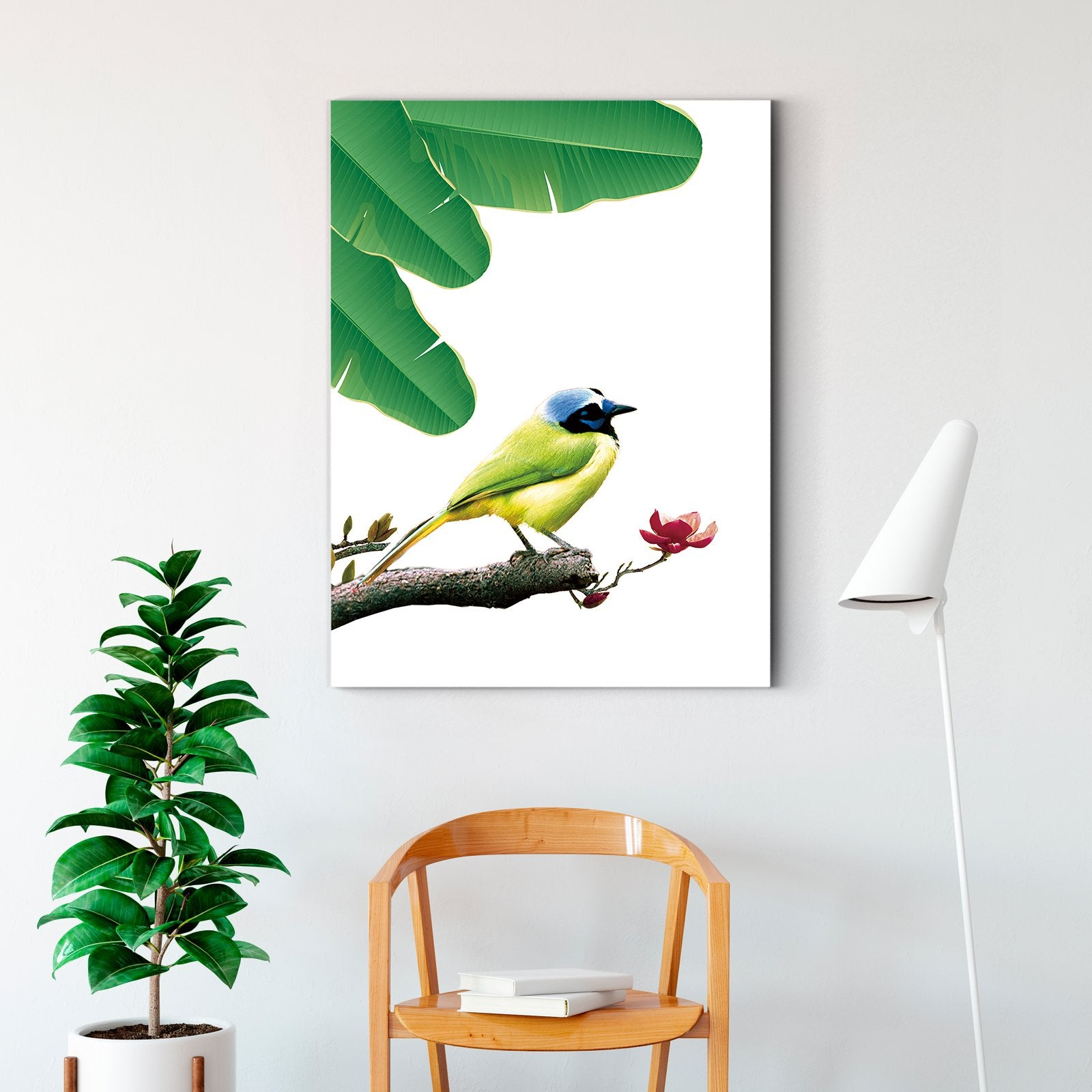 Flying Parrot - Animal Decorative Painting - Living Room-Multi Panel Wall Art030