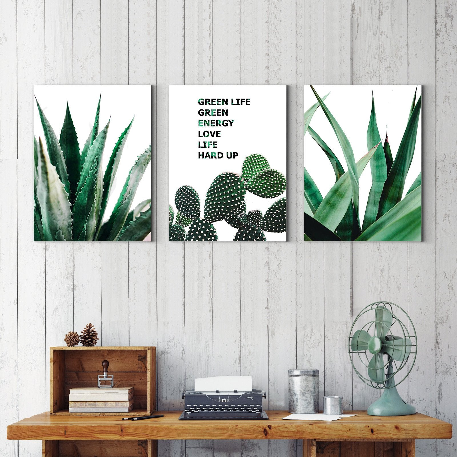 Upward plant - plant decorative painting - living room-Multi Panel Wall Art042