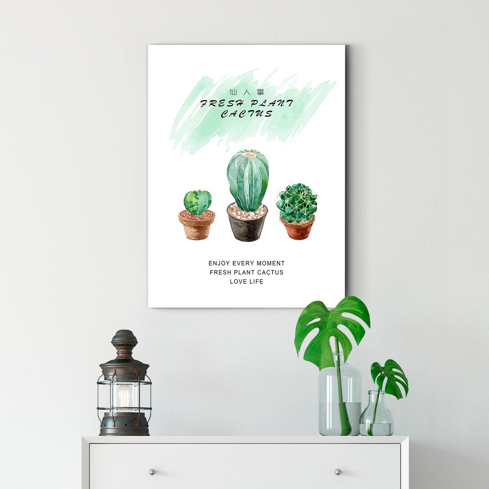 Watercolor Cactus - Plant Decoration Painting - Living Room-Multi Panel Wall Art052