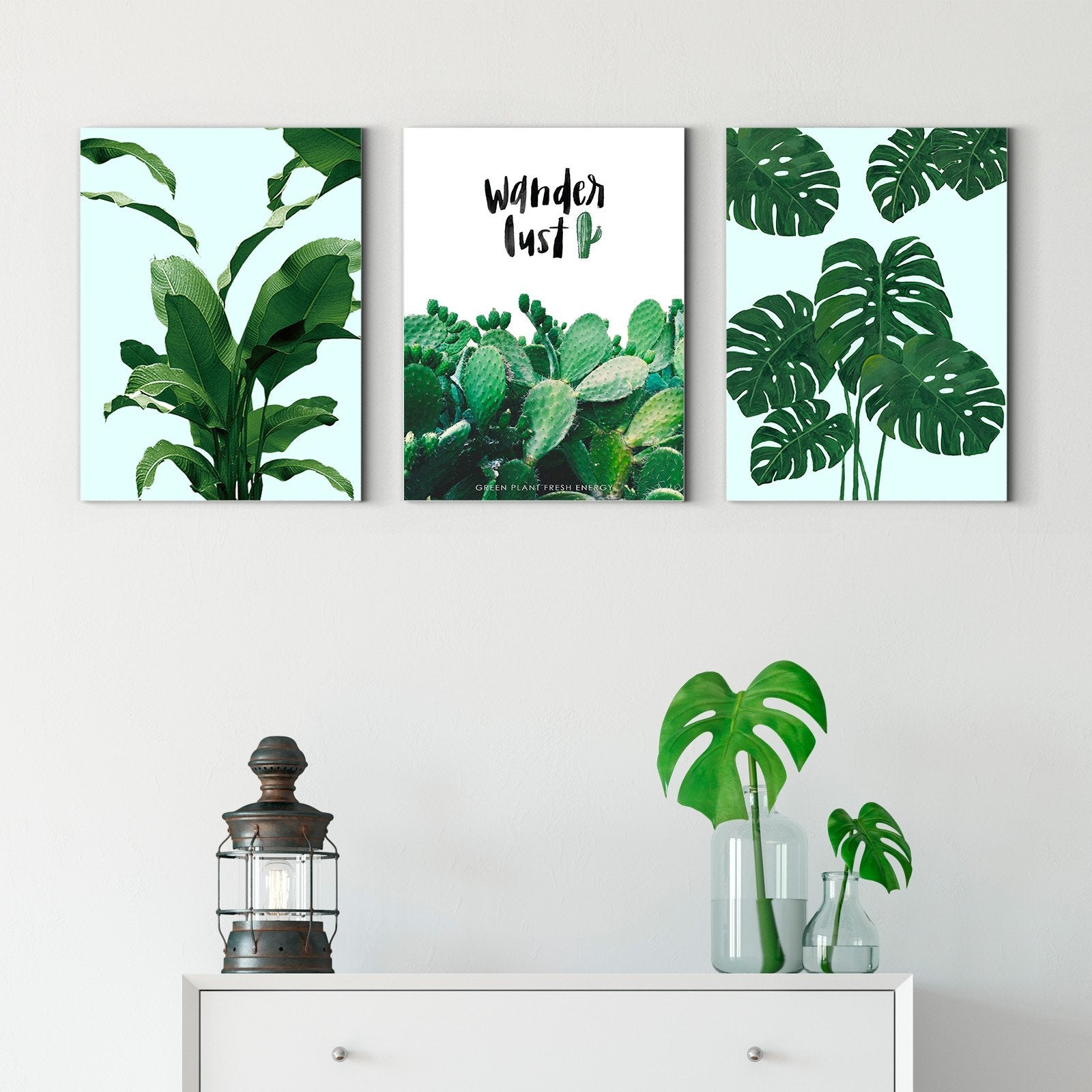 Tropical plants - plant decorative painting - living room-Multi Panel Wall Art058