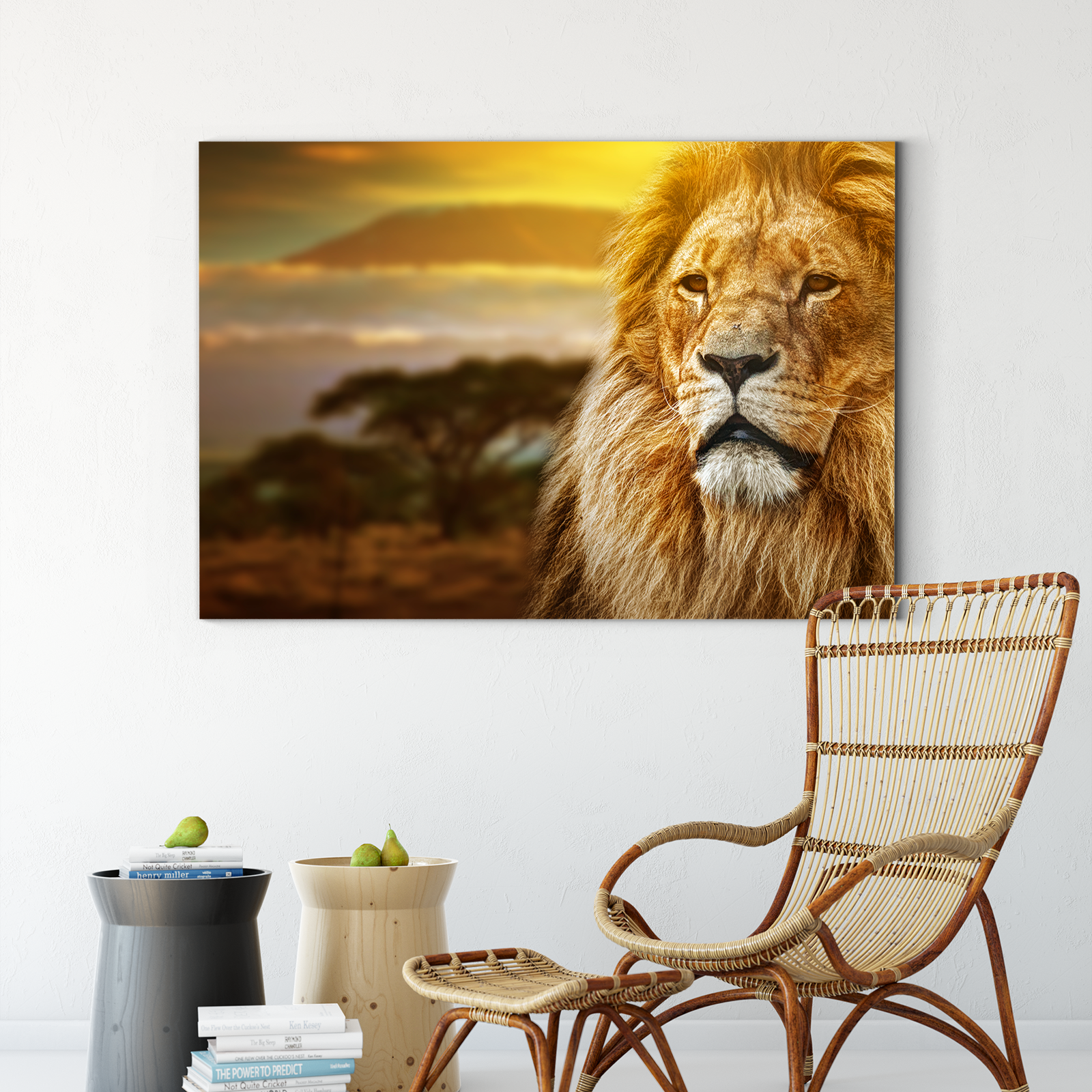 Kindly lion animal decoration painting 028