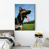 Strong wolf dog animal decoration painting 051