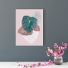 Beautiful leaf plant decoration painting 001