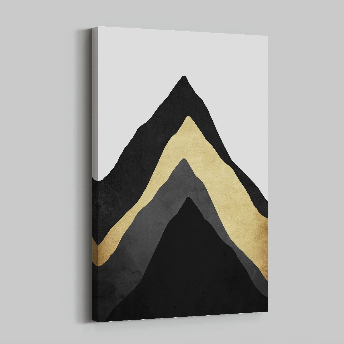 Abstract mountain peak - abstract decorative painting for living room