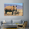 Strong rhinoceros animal decorative painting 046