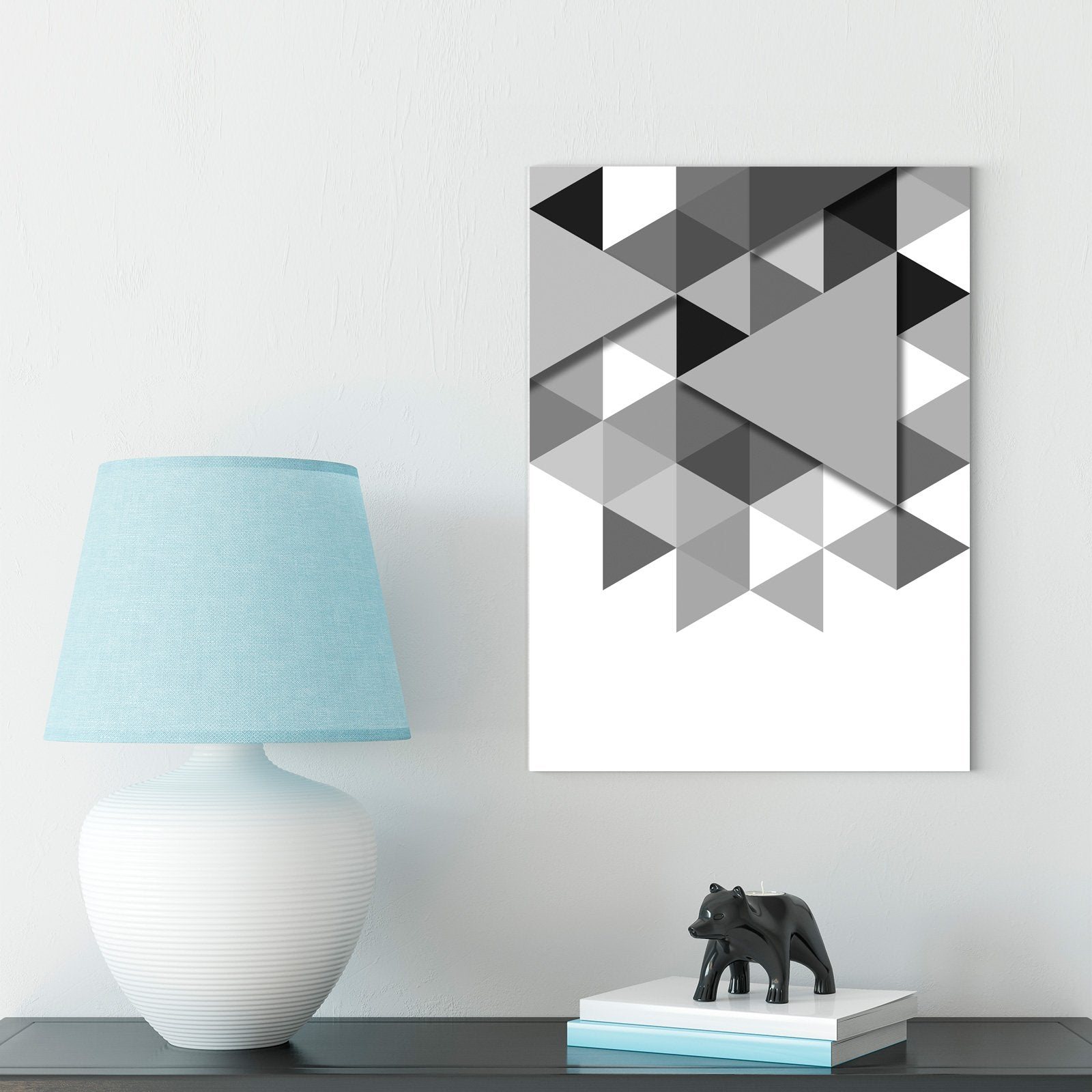 Modern black and white - abstract decorative painting - living room - graphics
