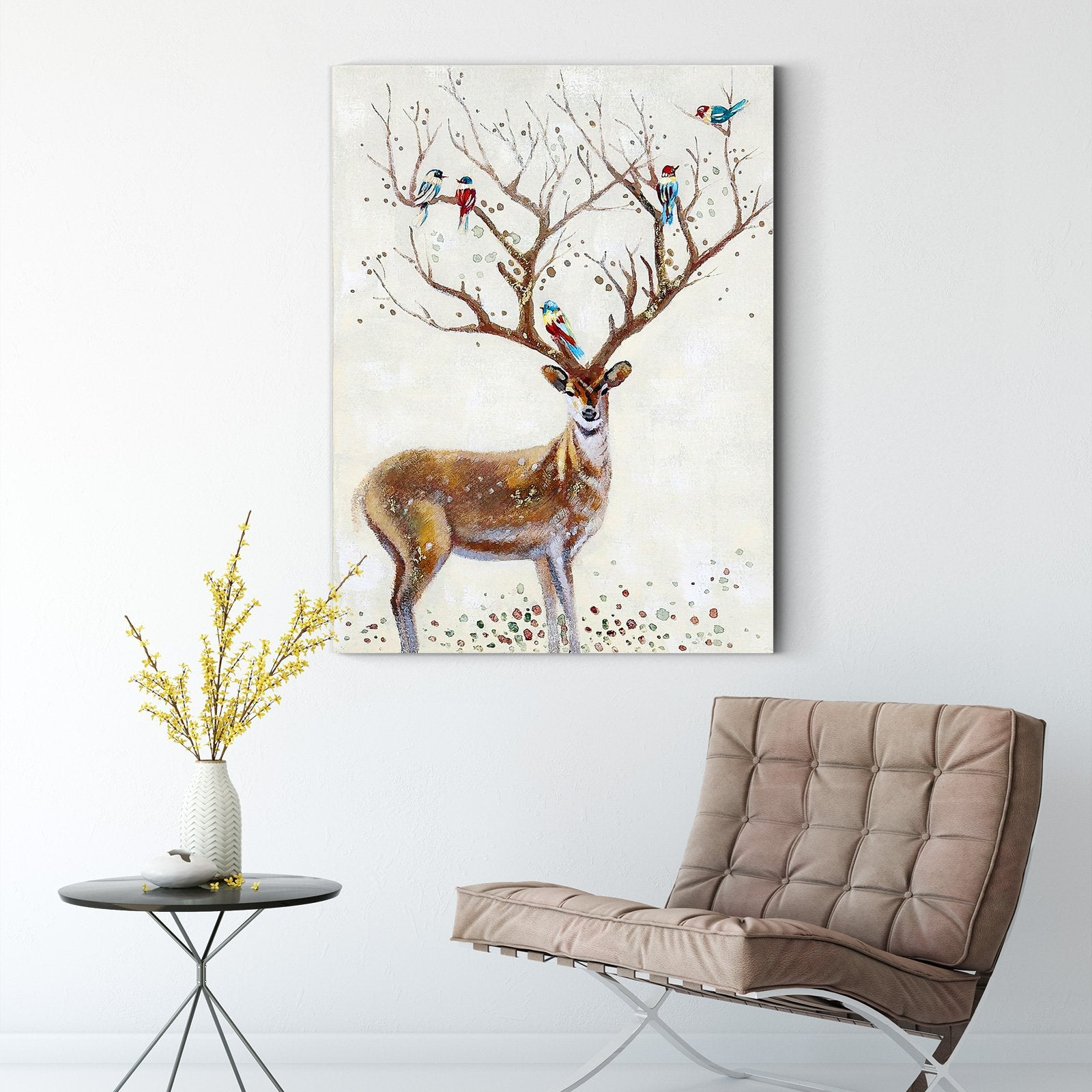 Abstract deer - animal decoration painting - living room