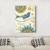 Cute bird and bird decoration painting 003