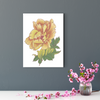 Beautiful peony flower plant decoration painting 001